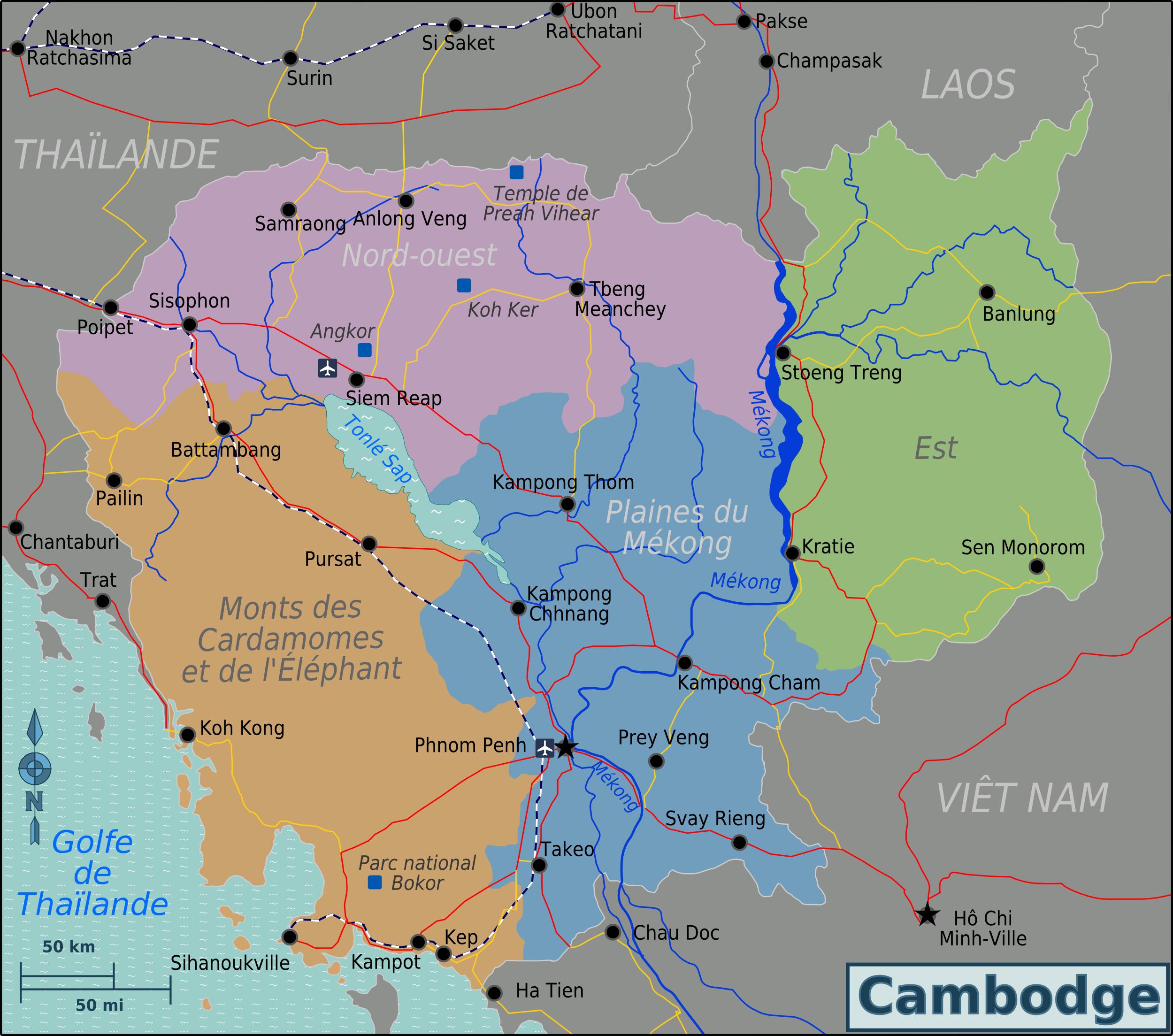 Cambodia Regions